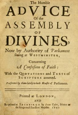 Original Westminster Confession of Faith title page