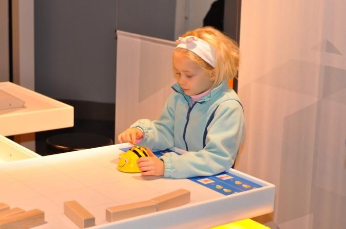 Marica programming a robot